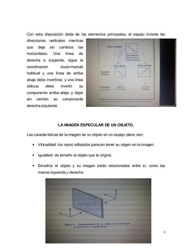 Con esta disposición dada de los elementos principales, el espejo invierte las direcciones verticales mientras que deja si...