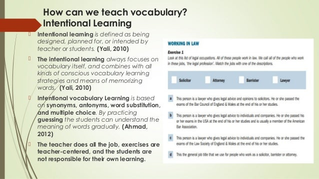 How to teach vocabulary through Reading and Writing? Peer Teaching Ac…