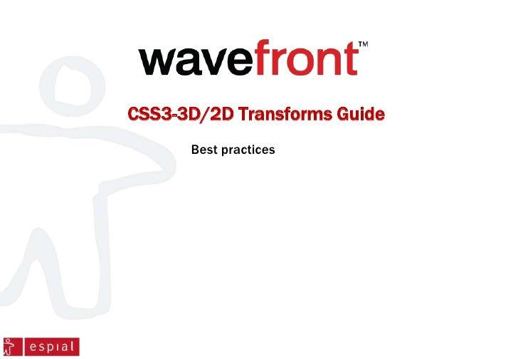 CSS3-3D/2D Transforms Guide      Best practices