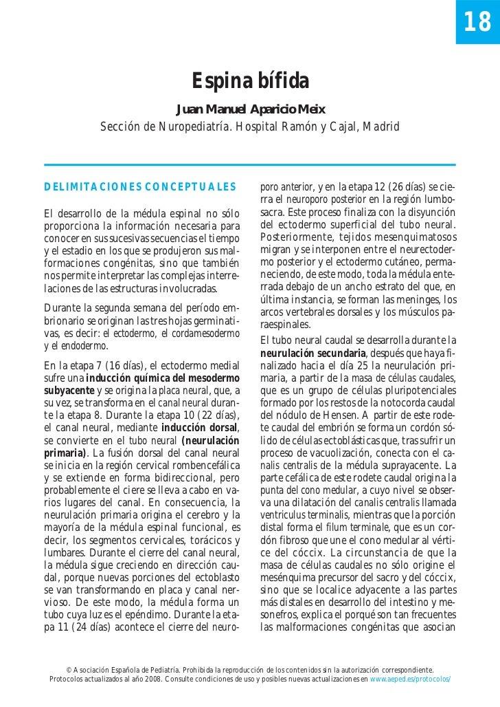 18                                             Espina bífida                              Juan Manuel Aparicio Meix       ...