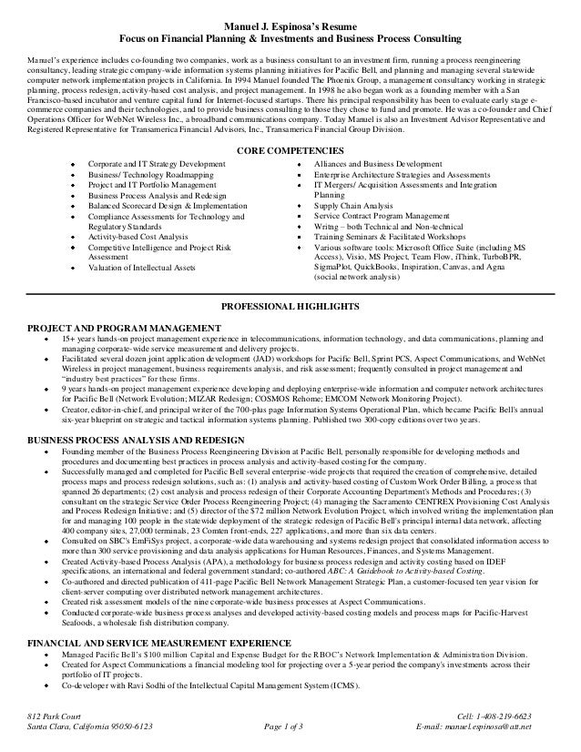 Resume Financial Advisor Insssrenterprisesco - Business plan template financial advisor
