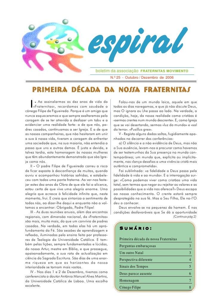 espiral                                             boletim da associação FRATERNITAS MOVIMENTO                           ...