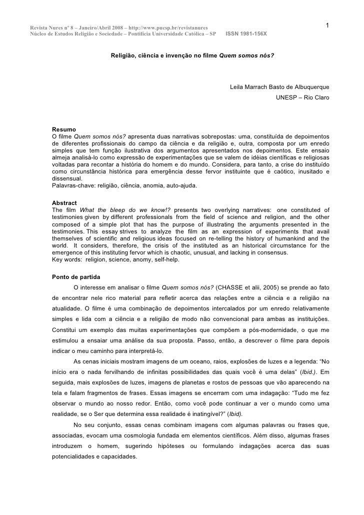 Revista Nures nº 8 – Janeiro/Abril 2008 – http://www.pucsp.br/revistanures                                        1 Núcleo...