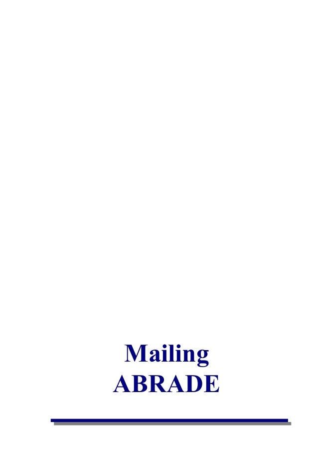 Mailing ABRADE