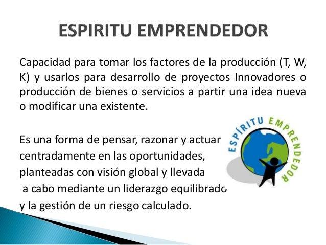 Espiritu emprendedor y empresarial  Slide 2