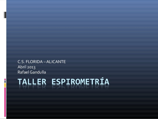 C.S. FLORIDA – ALICANTE Abril 2013 Rafael Gandulla