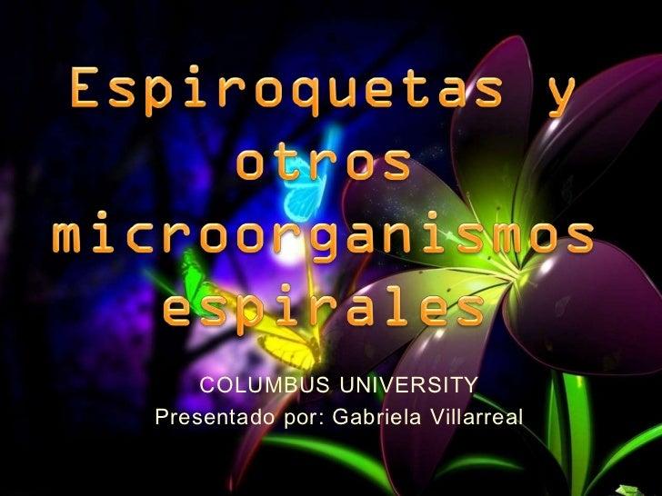 COLUMBUS UNIVERSITYPresentado por: Gabriela Villarreal