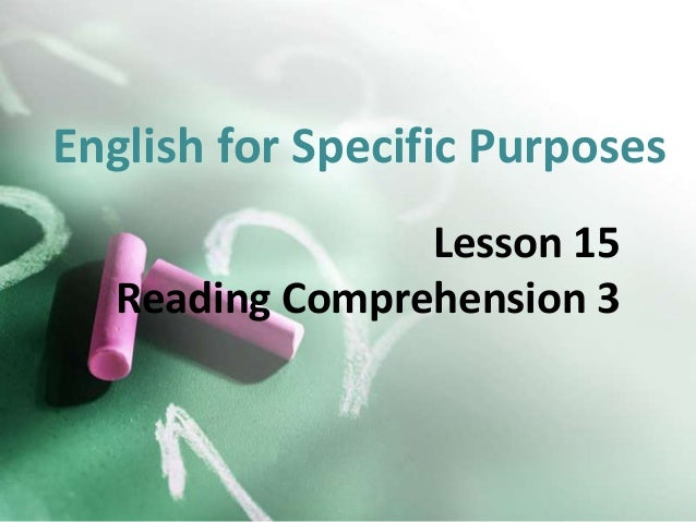 English for Specific Purposes Lesson 15 Reading Comprehension 3