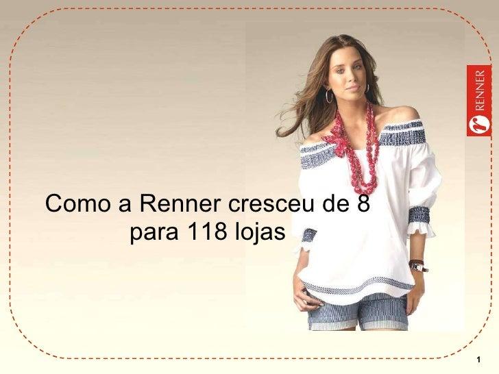 Como a Renner cresceu de 8 para 118 lojas