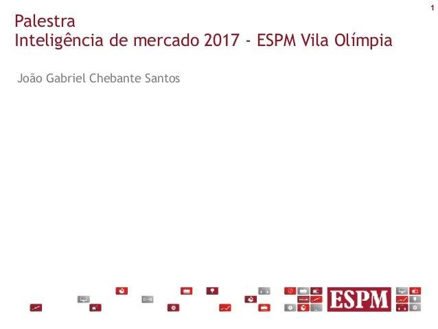 1 Palestra Inteligência de mercado 2017 - ESPM Vila Olímpia João Gabriel Chebante Santos