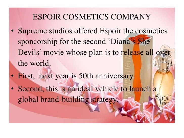natasha singh espoir cosmetics For teaching purposes, this is the case-only version of the hbr case study espoir cosmetics has received a tantalizing offer: sponsorship of the sequel to the hollywood hit diana's she devils for natasha singh, the us-based company's global marketing officer, the movie is an ideal vehicle for .