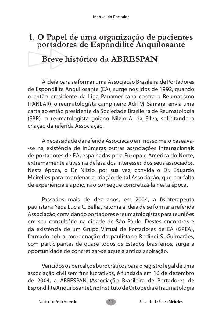 Manual do Portador            2. EA, histórico, epidemiologia,                   genética e clínica     Breve histórico da...