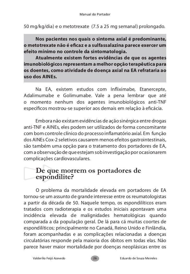 Manual do Portador  Quais os objetivos dos Exercícios na Espondilite Anquilosante?      Aumentar ou manter a mobilidade /...