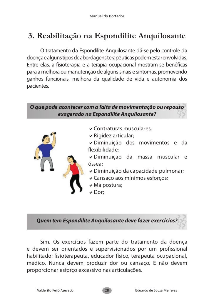 Manual do Portador            Exercícios para manter ou aumentar a mobilidade,                     flexibilidade da coluna...