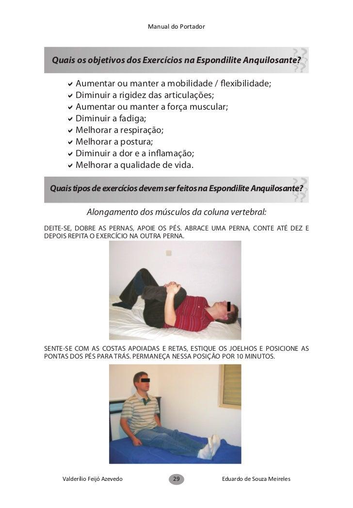 Manual do PortadorEM PÉ, COM AS MÃOS NA CINTURA, INCLINE A COLUNA PARA FRENTE, PARA TRÁS, PARA OLADO, PARA O OUTRO LADO E ...