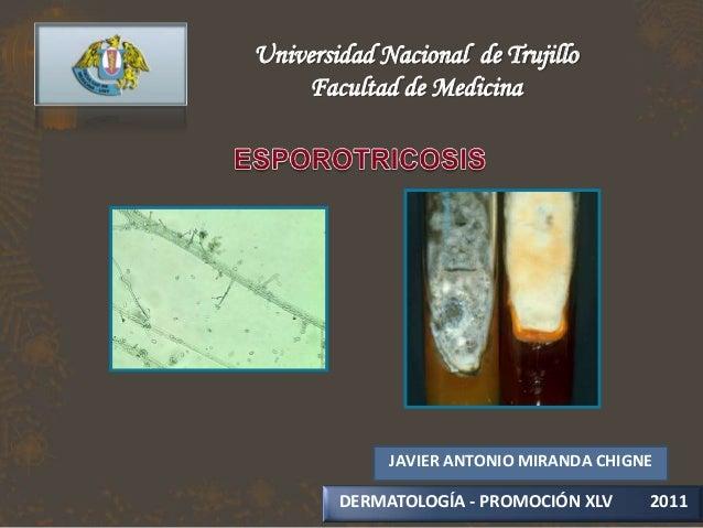 Universidad Nacional de Trujillo    Facultad de Medicina             JAVIER ANTONIO MIRANDA CHIGNE        DERMATOLOGÍA - P...