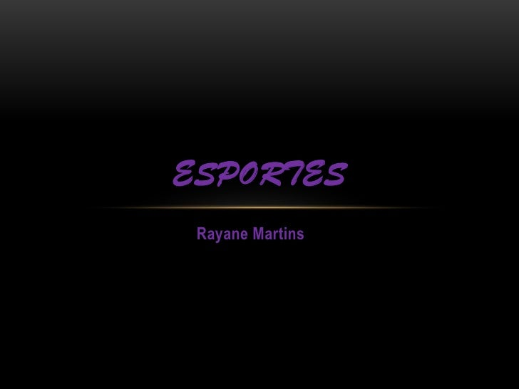 ESPORTES Rayane Martins