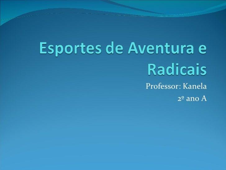 Professor: Kanela 2º ano A