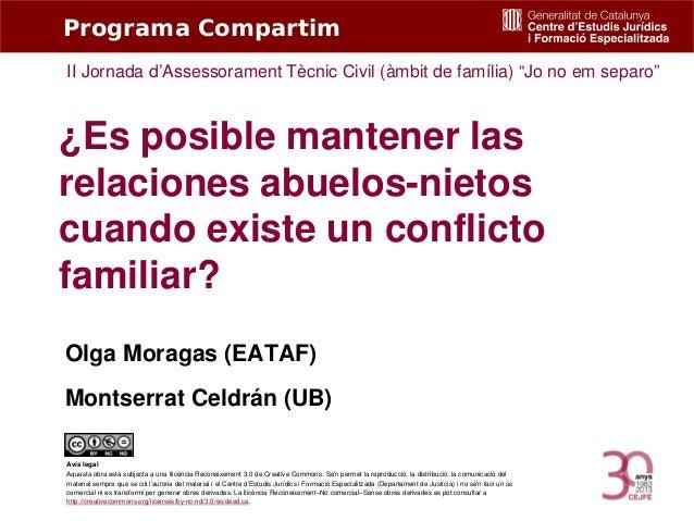 """Programa Compartim II Jornada d'Assessorament Tècnic Civil (àmbit de família) """"Jo no em separo""""  ¿Es posible mantener las ..."""
