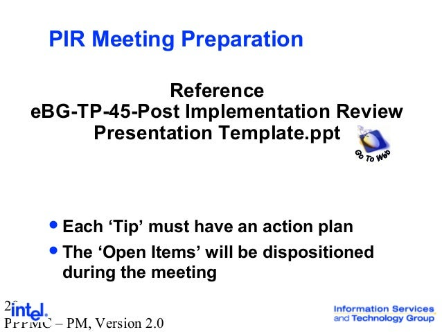 the post implementation review Post–implementation review – department of health in april 2010 the then prime minister announced a decision to require all tobacco products to be sold in.