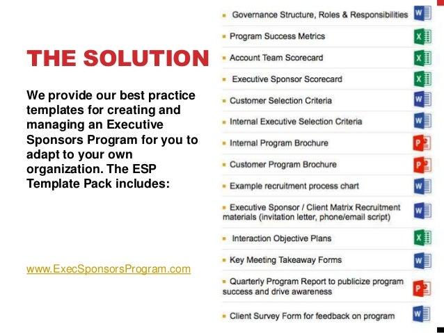 Executive Sponsor Program ROI Best Practices