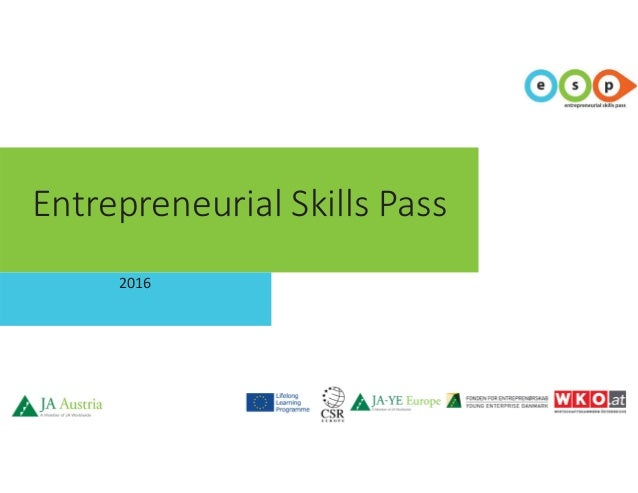 Entrepreneurial Skills Pass 2016