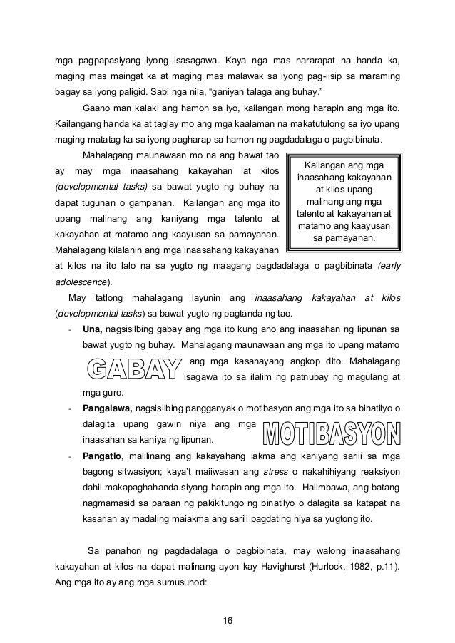 Kailangan ang mga inaasahang kakayahan at kilos upang malinang ang mga talento at kakayahan at matamo ang kaayusan sa pama...