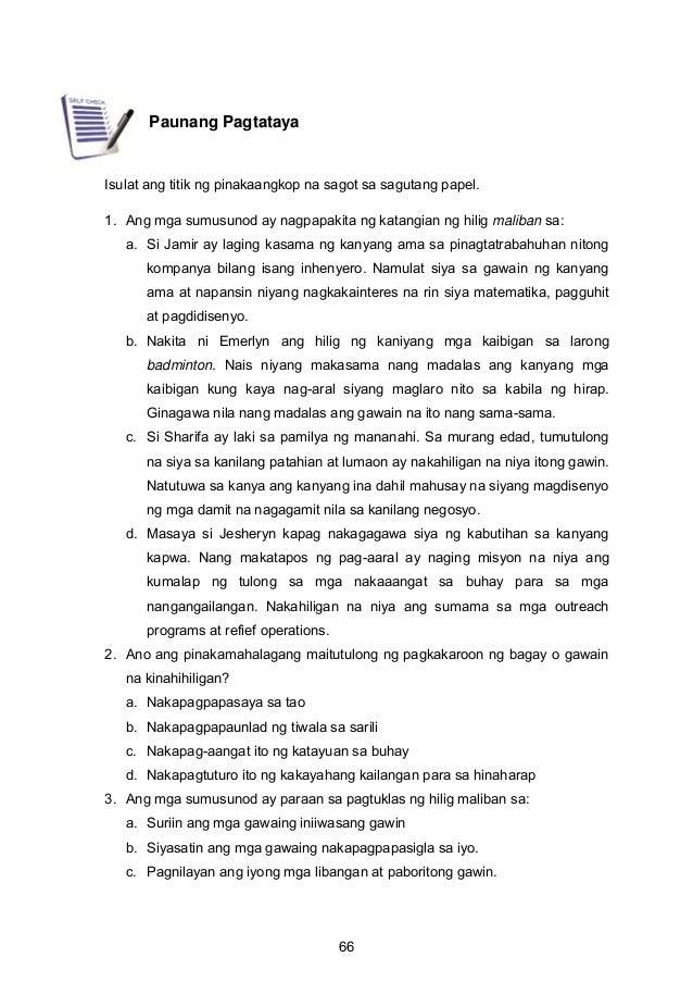 Paunang Pagtataya Isulat ang titik ng pinakaangkop na sagot sa sagutang papel. 1. Ang mga sumusunod ay nagpapakita ng kata...
