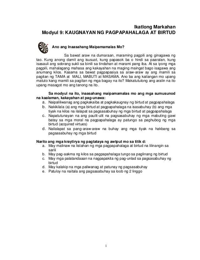 Module grade ikatlong pdf markahan 9 esp