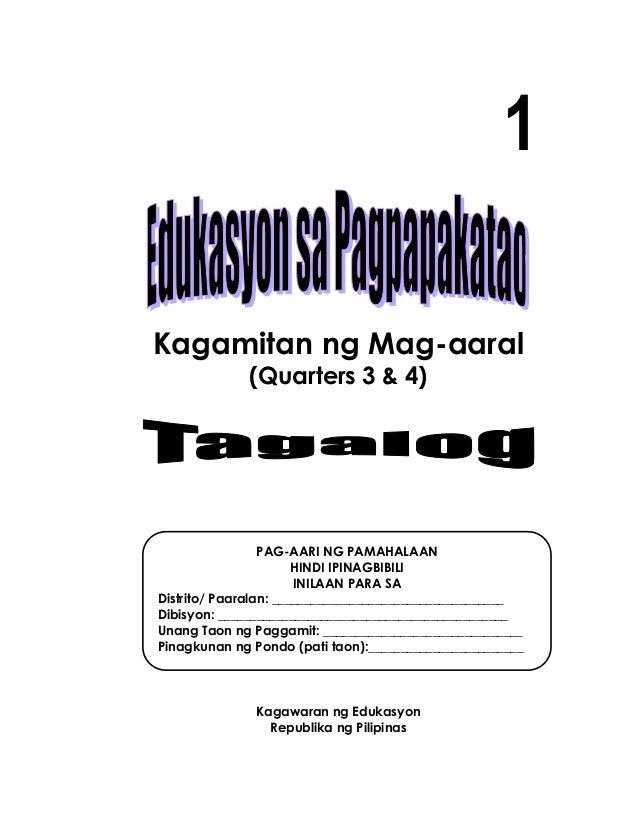 1 Kagamitan ng Mag-aaral (Quarters 3 & 4) Kagawaran ng Edukasyon Republika ng Pilipinas PAG-AARI NG PAMAHALAAN HINDI IPINA...