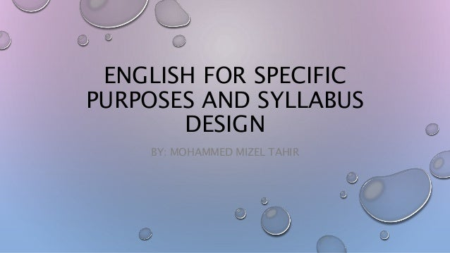 english for specific purposes pdf
