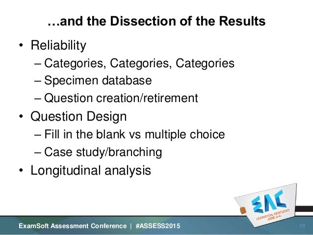 The Anatomy of a Lab Practical and the Dissection of the Results