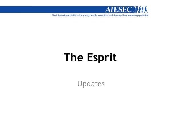The Esprit Updates