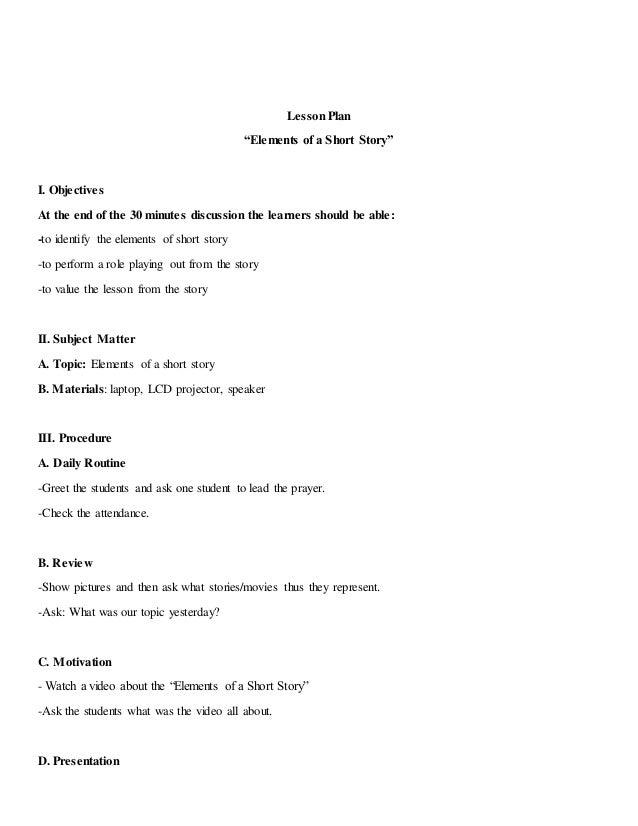 Esp Sample Lesson Plan