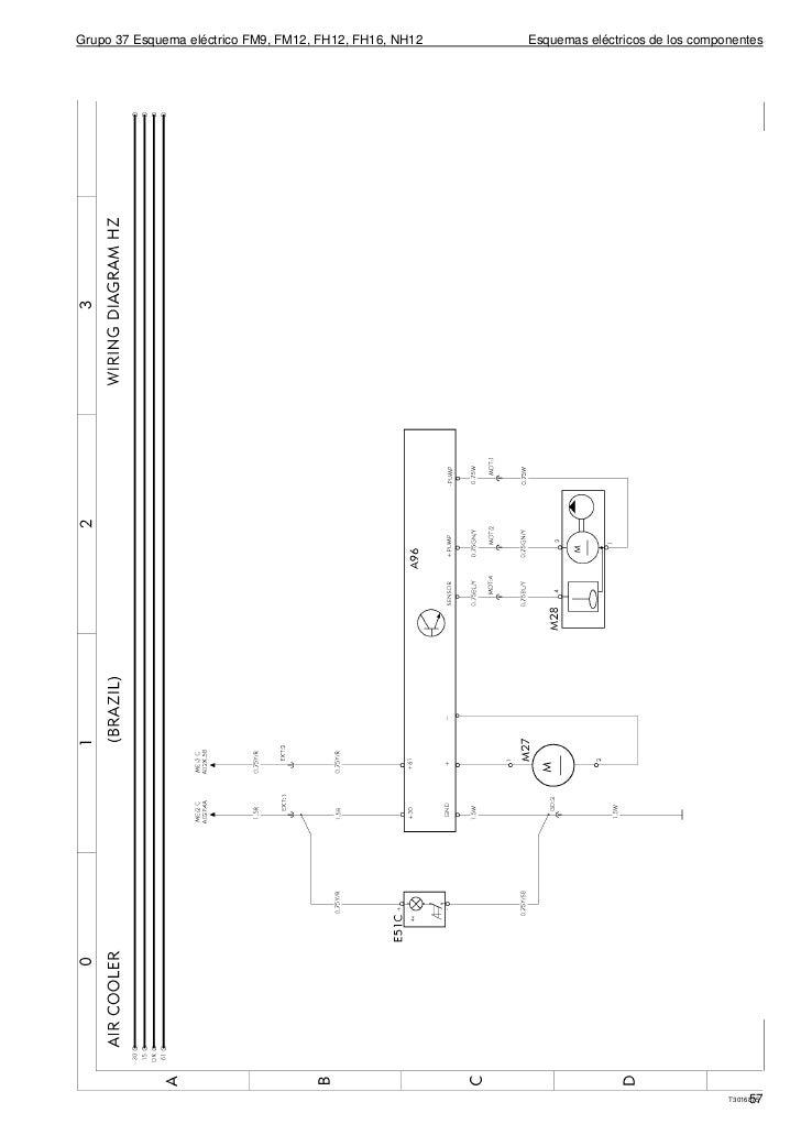 grupo 37 esquema el�ctrico fm9, fm12, fh12, fh16, nh12 esquemas el�ctricos  de los componentes56 t3016911