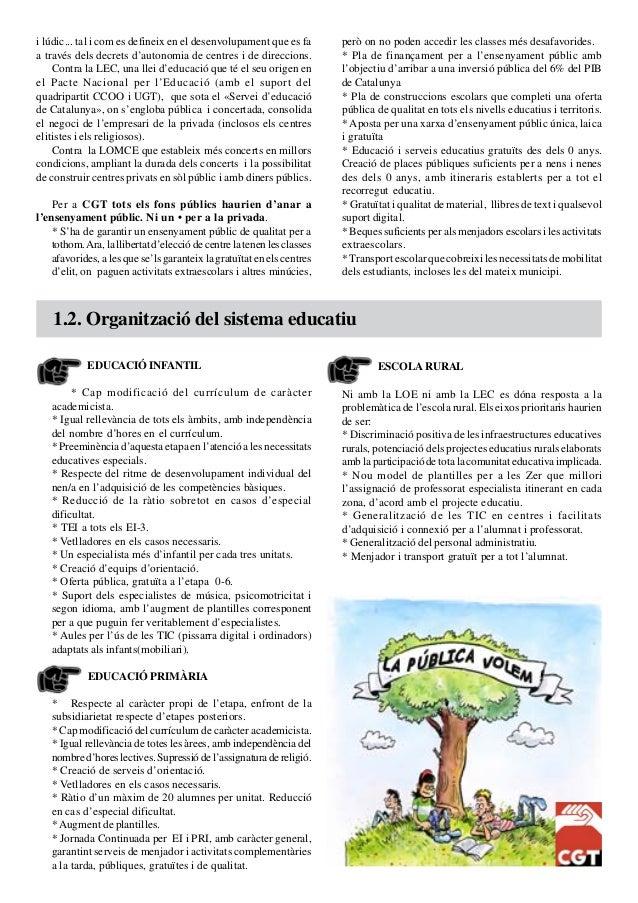 Programa 2015 - CGT Ensenyament Slide 2