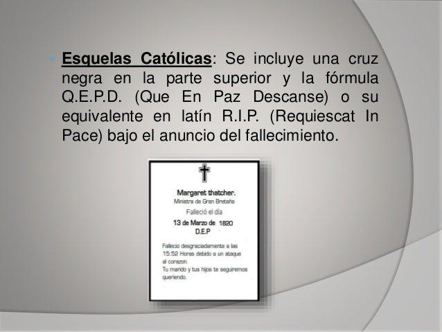 Las Esquelas ,Redaccion Slide 6