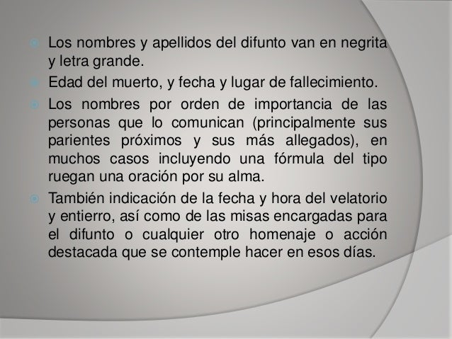 Las Esquelas ,Redaccion Slide 8