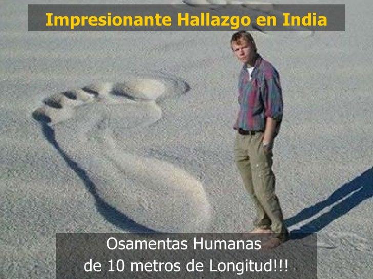 Impresionante Hallazgo en India Osamentas Humanas  de 10 metros de Longitud!!!