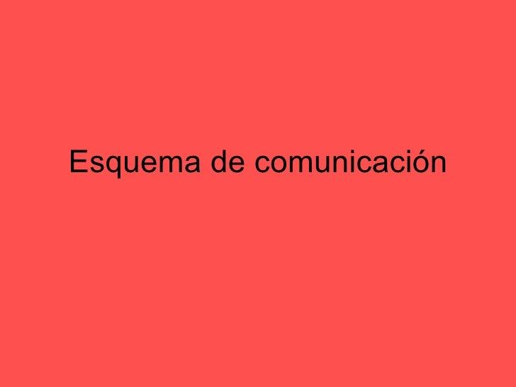 Esquema de comunicación