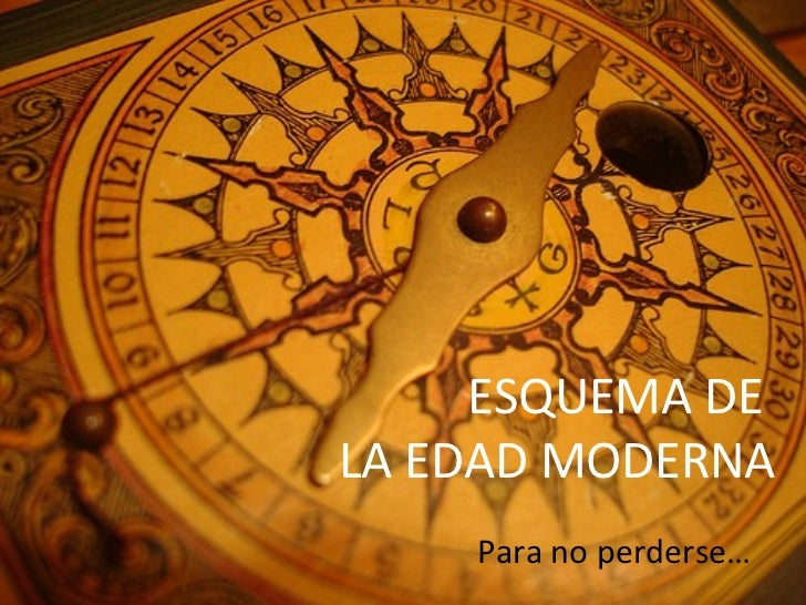 Esquema  la Edad Moderna