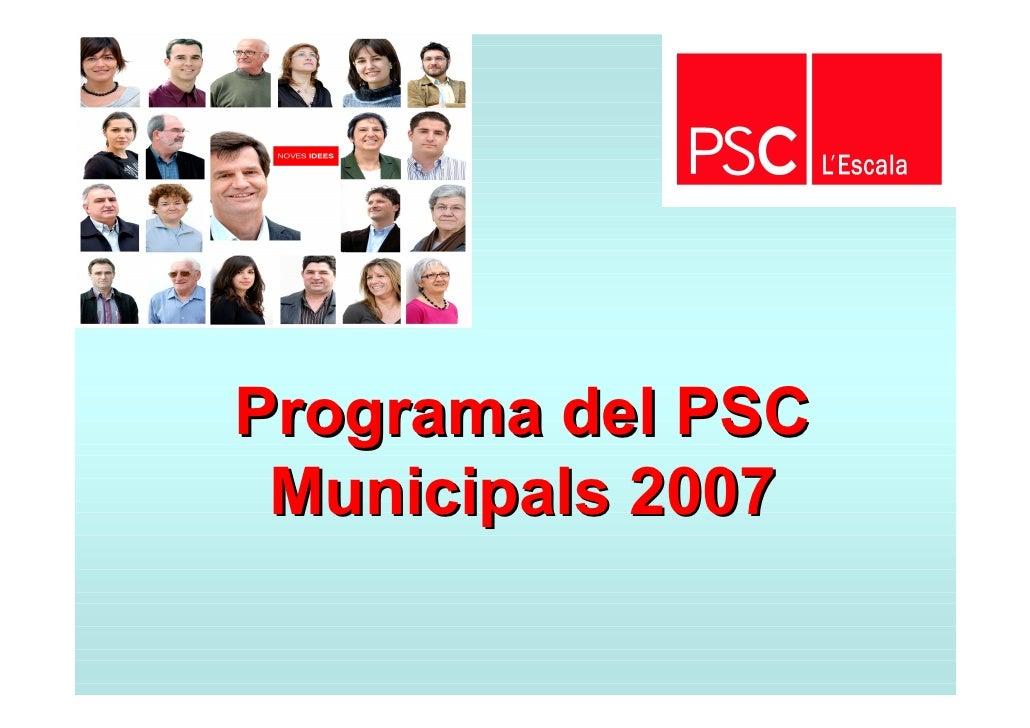 Programa del PSC  Municipals 2007