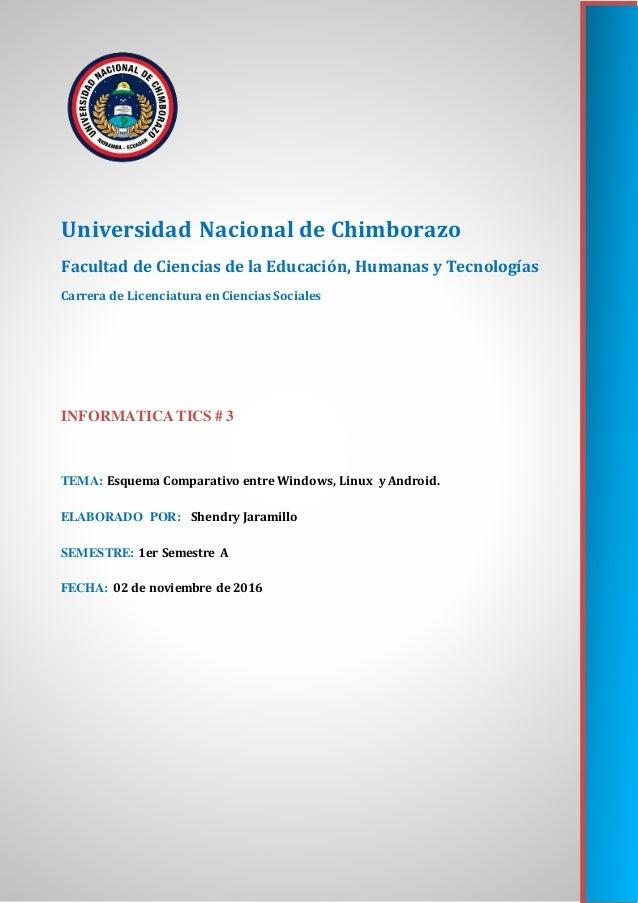 Universidad Nacional de Chimborazo Facultad de Ciencias de la Educación, Humanas y Tecnologías Carrera de Licenciatura en ...