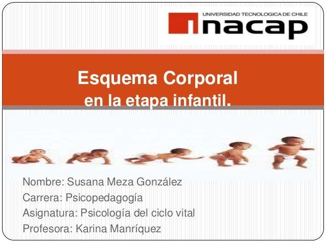 Nombre: Susana Meza González Carrera: Psicopedagogía Asignatura: Psicología del ciclo vital Profesora: Karina Manríquez Es...