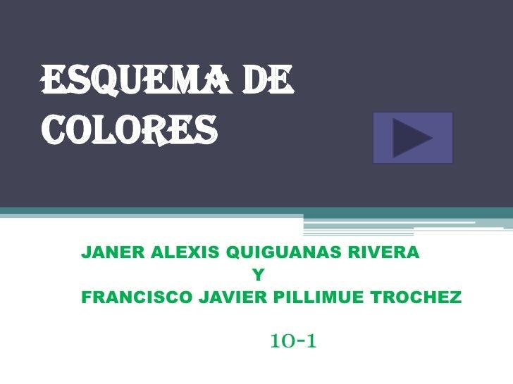 Esquema decolores JANER ALEXIS QUIGUANAS RIVERA                Y FRANCISCO JAVIER PILLIMUE TROCHEZ                 10-1