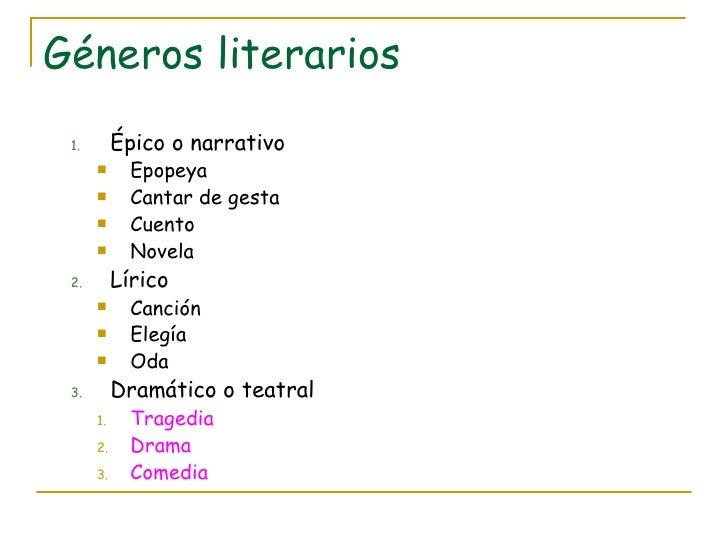 Esquema de los gneros literarios ccuart Image collections