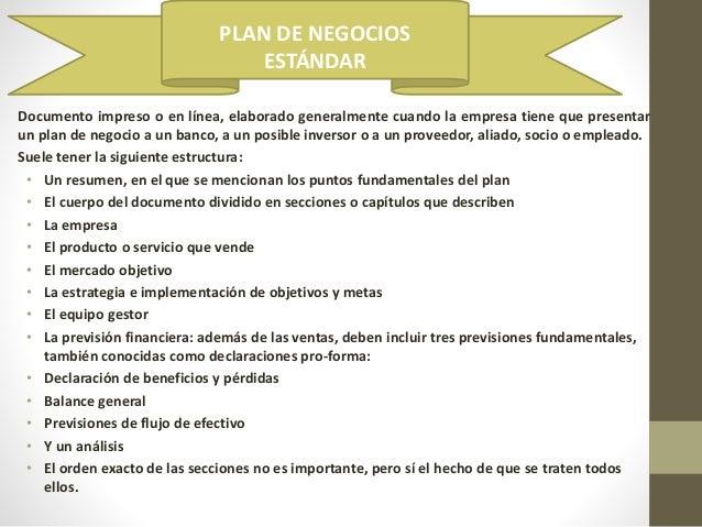 estructura de un plan de negocios pdf