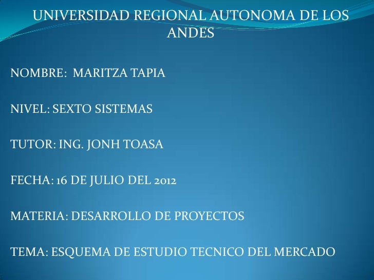 UNIVERSIDAD REGIONAL AUTONOMA DE LOS                   ANDESNOMBRE: MARITZA TAPIANIVEL: SEXTO SISTEMASTUTOR: ING. JONH TOA...