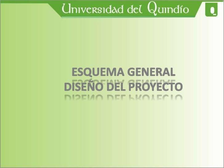 ESQUEMA GENERAL DISEÑO DEL PROYECTO<br />