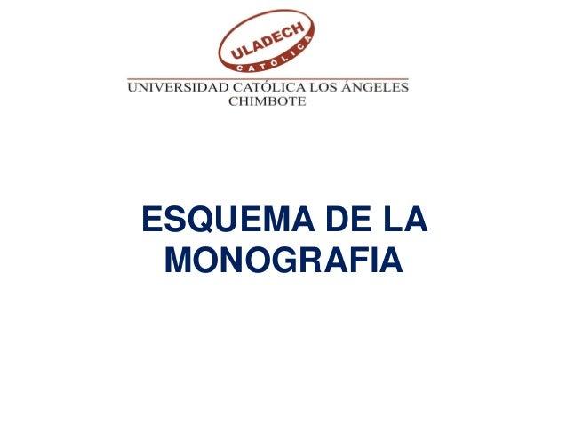 ESQUEMA DE LA MONOGRAFIA